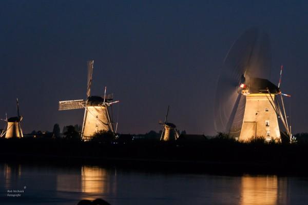 Rob Verhoek Fotografie, verlicht molens