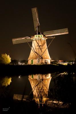 Rob Verhoek Fotografie, werelderfgoed Kinderdijk verlicht
