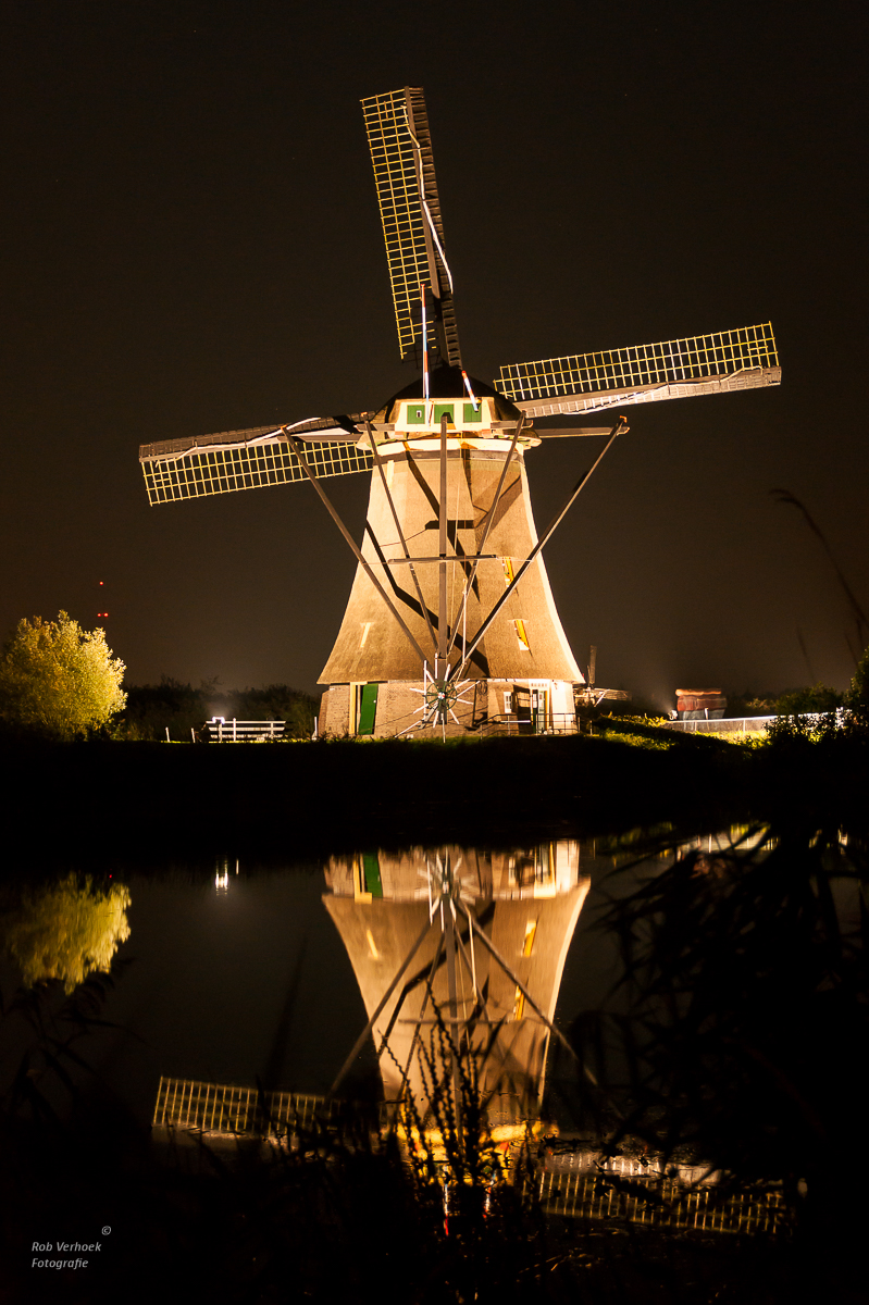 Jaarlijks worden de molens verlicht - Rob Verhoek Fotografie