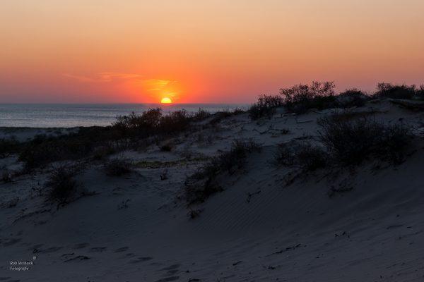 Rob Verhoek Fotografie, Kijkduin, zonsondergang in de duinen